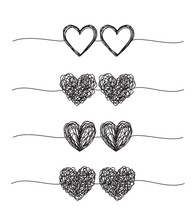 Set Of Coupled Hearts Tangled ...