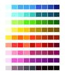 Color Spectrum Different Colors. Colour table palette, Ligths and shades for cartoon design.