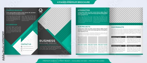 Fotografie, Tablou  set of business brochure template design with abstract concept and minimalist la