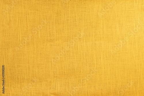 Fototapety, obrazy: Yellow, orange, warm texture. Cotton, canvas, fabric.