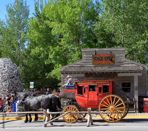 Stagecoach in Jackson Hole, Wyoming Fototapet