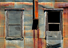 Old Rusted Metal Walls, Window...