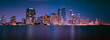 lighting view cityscape buildings blue sky night sunset skyscraper miami florida downtown street panorama dusk