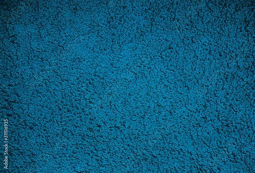 Valokuva Empty blue and black dimpled surface, space material for backgrounds and backdrops