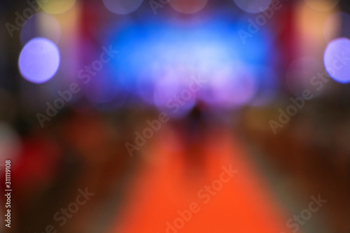 Fototapeta Lights with blur in new year, Party obraz na płótnie