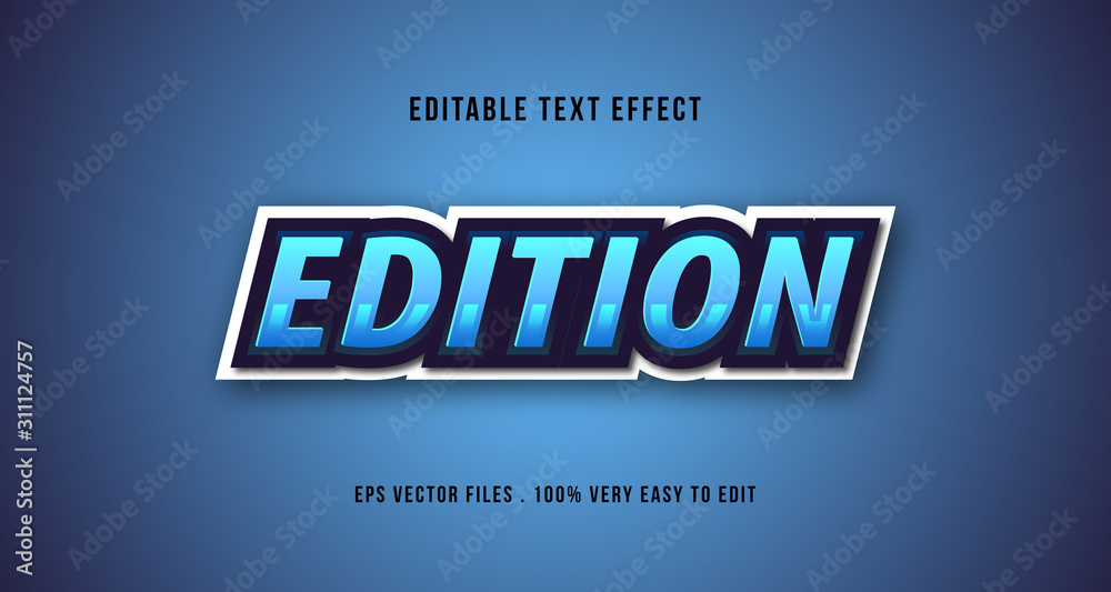 Fototapeta E-sport 3D text effect, editable text