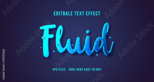 Fototapeta 3D fluid text effect, editable text obraz