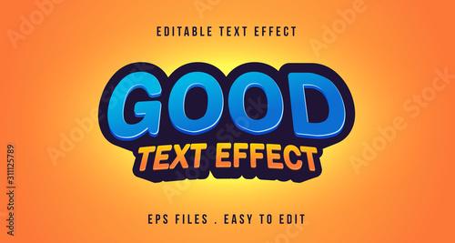 Vászonkép Good 3D Text effect, Editable text
