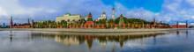 Panorama Of The Red Kremlin Wa...