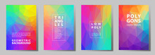 Facet Polygonal Abstract Cover Pages, Low Poly Set