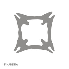 Vector monochrome icon with Adinkra symbol Fihankra