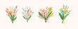 Vector illustration bouquets of flowers. Design template.