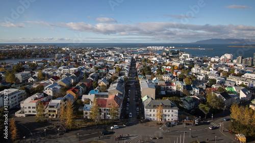 Valokuvatapetti view of Reykjavik from Hallgrimskirkja