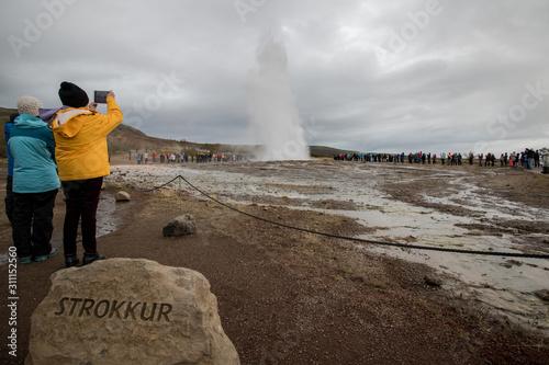 Fotografia, Obraz geyser iceland