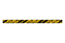 Keep Out Police Stop Or Construction Line. Yellow Warning Tape. Vector Illustration.