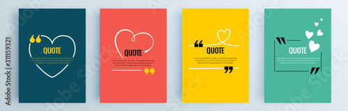 Fotomural Quote frames blank templates set