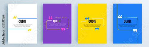 Fotografía Quote frames blank templates set