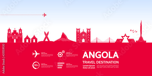Angola travel destination grand vector illustration. Canvas Print