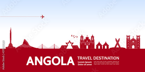 Angola travel destination grand vector illustration. Wallpaper Mural