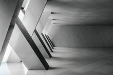 Minimalistic Concrete Interior With Columns