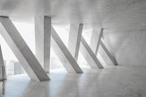 Fotografia Contemporary concrete interior