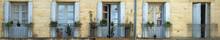 Panorama Shot Of Rustic Doors ...