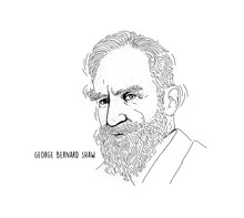 George Bernard Shaw Portrait Line Art