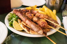 Traditional Souvlaki Greek Dis...