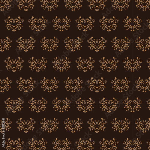 Seamless wallpaper pattern Canvas Print