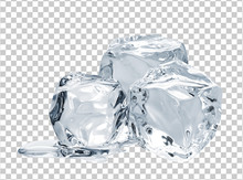 Melting Ice Cube Isolated On C...