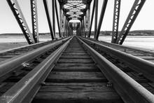 Black And White Photo Of Railw...