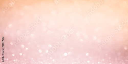 Canvastavla  Abstract Blurred pink tone lights background. Christmas