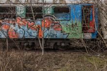 Graffiti Auf Einem Zug Detail