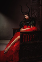 Sexy Witch On The Throne. Youn...