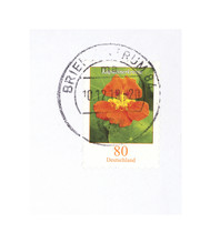 Briefmarke Stamp Blume Flower Gestempelt Used Deuschland Germany Orange Kapuzinerkresse 80 Garten Natur