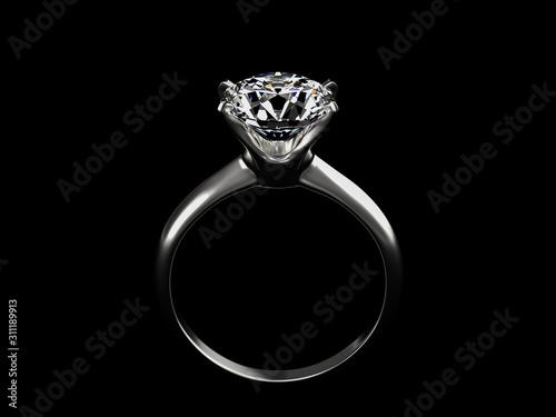 Photo ダイヤモンドの指輪の3DCG