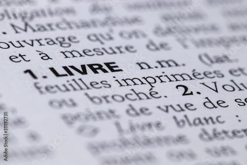 Fotografie, Obraz Définition du mot livre dans le dictionnaire français