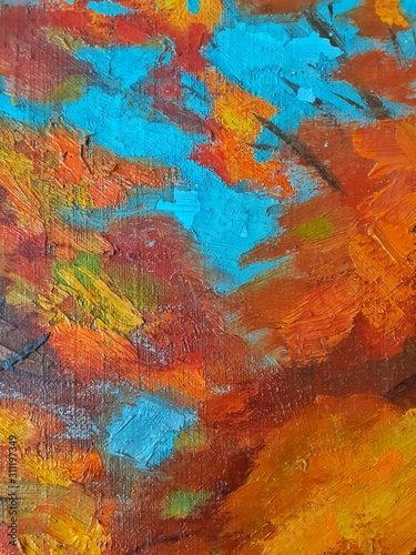 Obraz abstract colorful background with paint strokes - fototapety do salonu