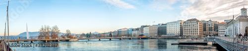 Fototapeta Panorama centre de Genève