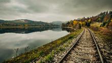 Railway Trail Through Mountain...