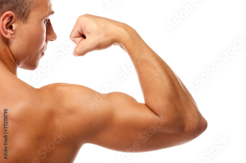 Close up of man's arm showing biceps Canvas Print