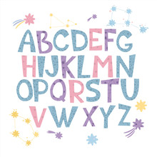 Vector Alphabet. Space Alphabe...