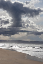 Clouds Over Marina State Beach In Monterey Peninsula California