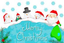 Christmas Template Postcard Wi...