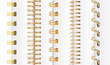 Set Of Gold Vertical Spirals F...