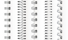 Set Of Silver Vertical Spirals...