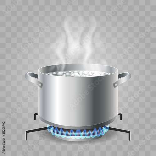 Cooking boiling water Canvas-taulu