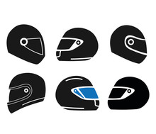 Motorcycle Helmet Icon Sets