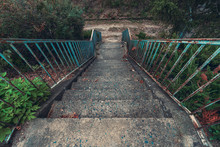 Old Concrete Staircase With Ru...