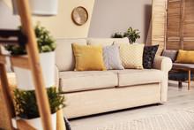 Modern Comfortable Sofa With P...